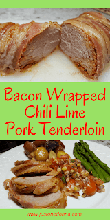 Bacon Wrapped Chili Lime Pork Tenderloin