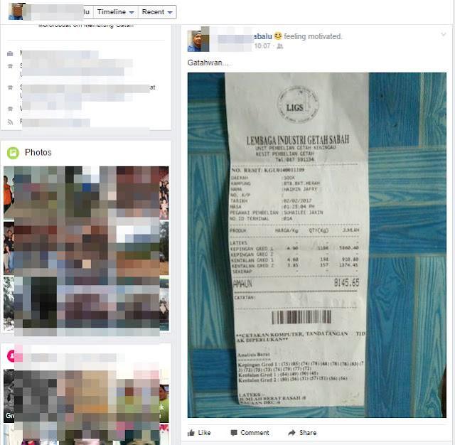 Penoreh Getah Ini Raih Pendapatan RM8,000 Sebulan