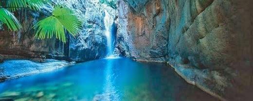 air terjun,kolam,laut hijau,alam,perairan