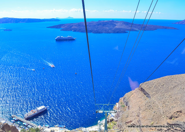 cable car ride in santorini