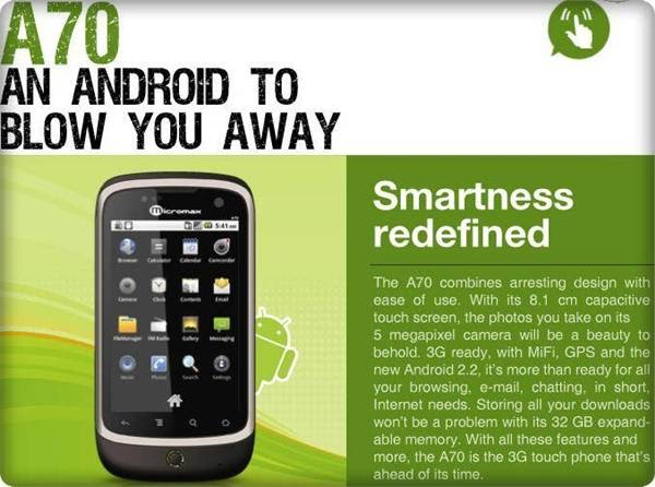 Gadget News: 10 Micromax Touch Screen Mobile Phones below ...