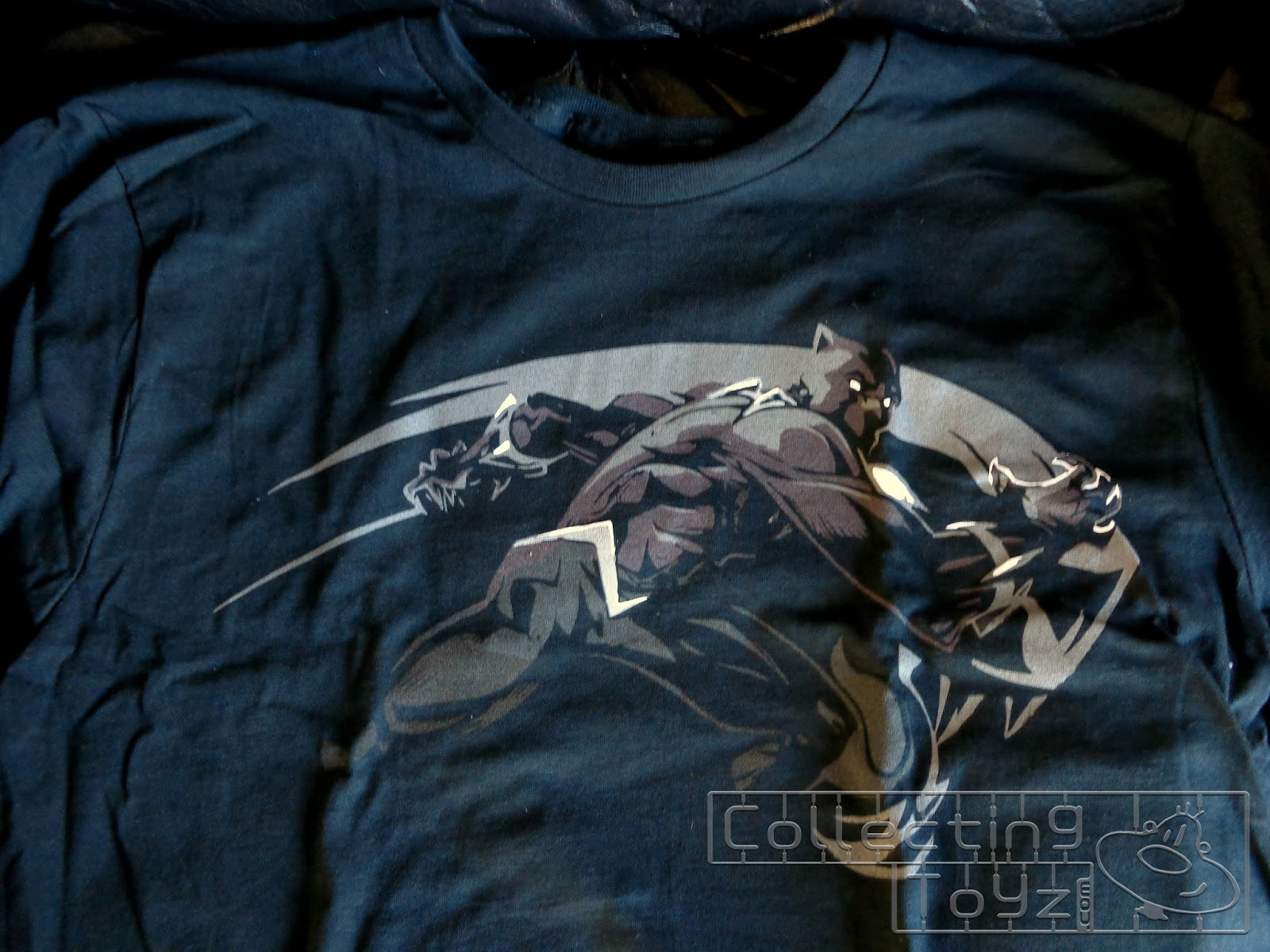 Black Panther T-Shirt which is on a black t-shirt. If you got this month s  Loot Crate 90d6d93847e3
