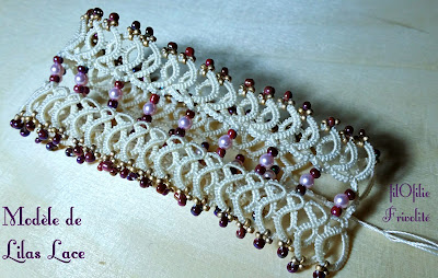 Bracelet en frivolité de Lilas Lace