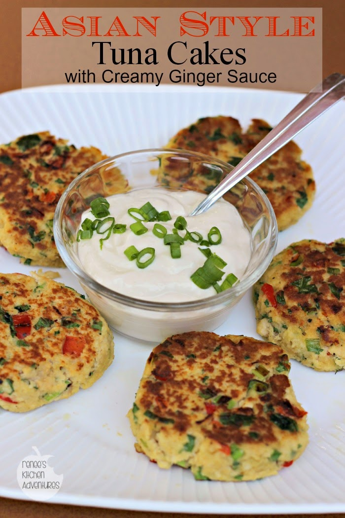 Asian Style Tuna Cakes with Creamy Ginger Sauce: Easy and healthy! #BumbleBee2S  #CleverG