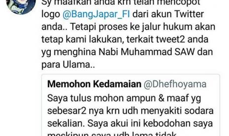 Penghina Nabi Muhammad SAW Melalui Akun Twitter Resmi Dilaporkan Ke Polisi