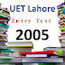 [pdf] UET lahore Entry Test Past Paper year 2005 free Download