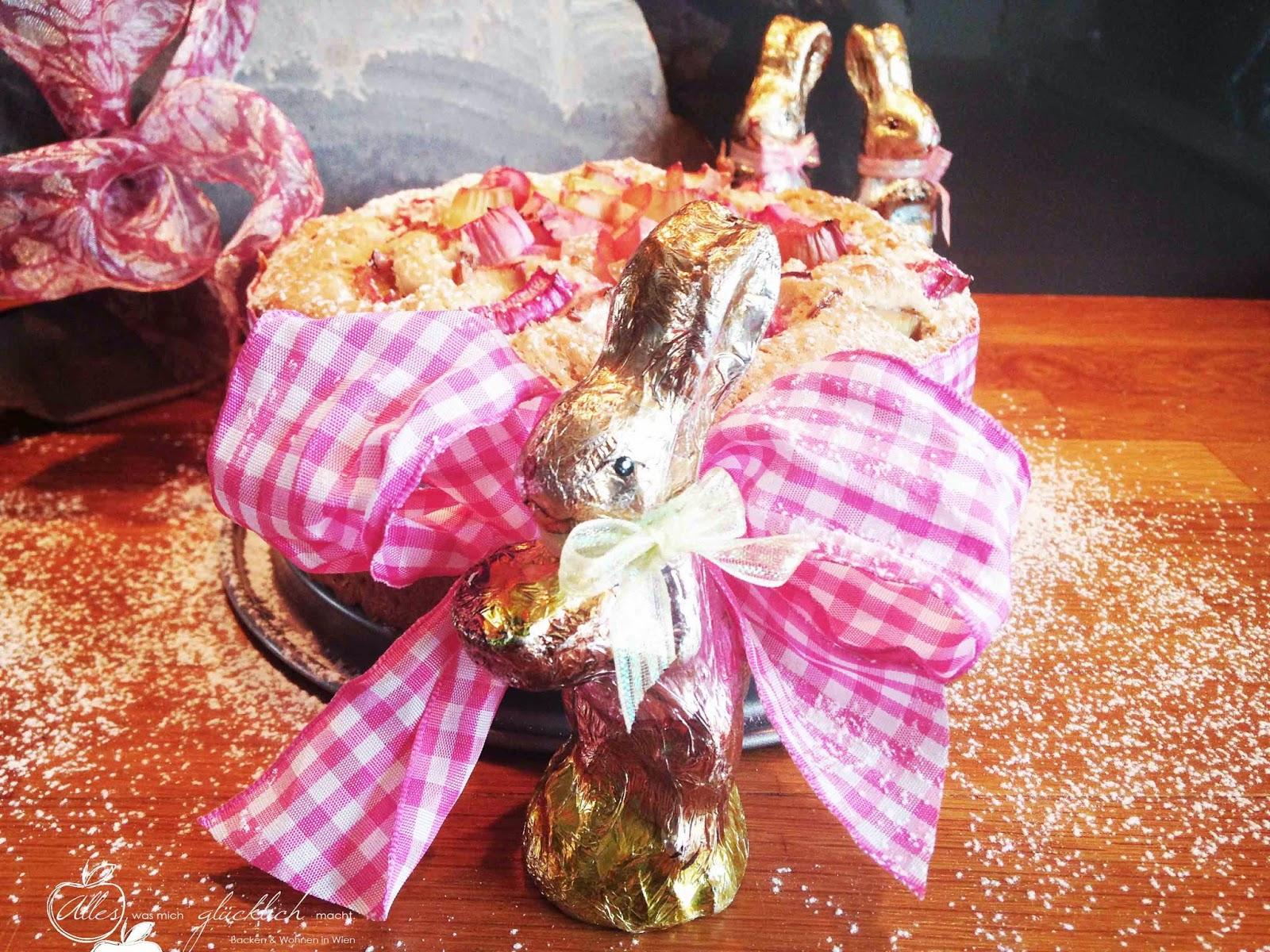 Das Oster-Geheimrezept von Frau Osterhase: Eierlikör - Rhabarber Rührkuchen