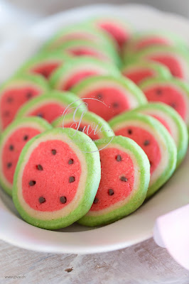 wassermelone kekse, watermelon cookie