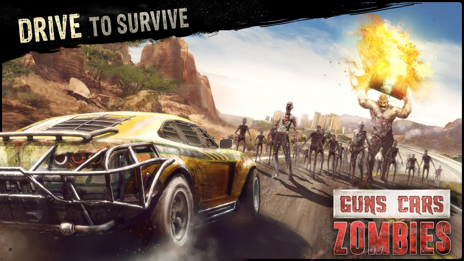 download Game Guns Cars Zombies MOD terbaru