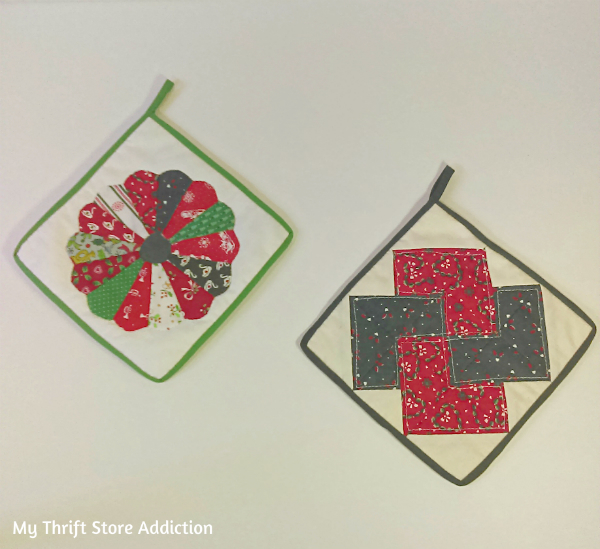 Vintage Christmas hot pads