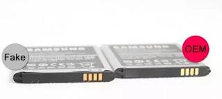 Baterai samsung palsu