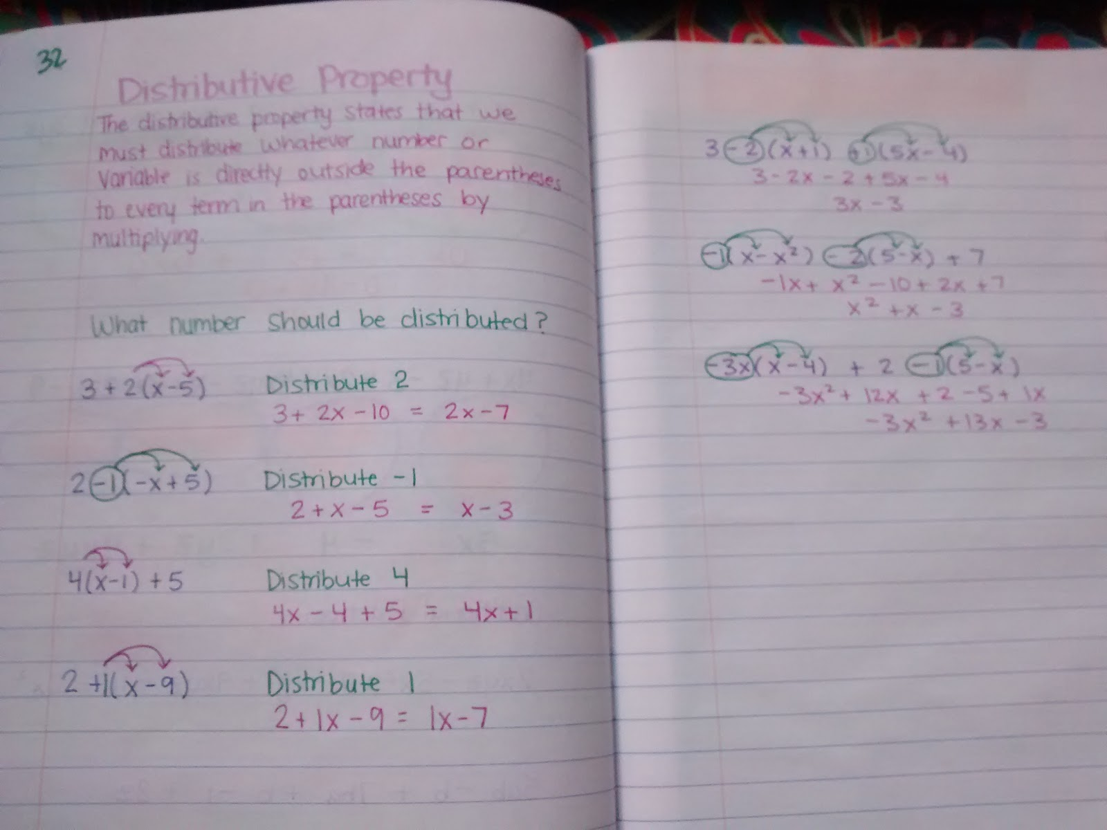 Math Love Reviewing The Distributive Property