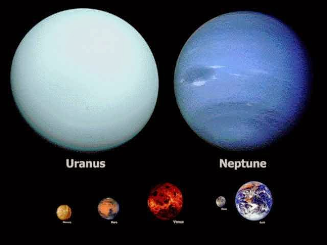 "The Size Of Space As Depicted Here Is Truly Mind-Blowing - Neptune and Uranus are much bigger (insert ""your anus"" jokes here)."