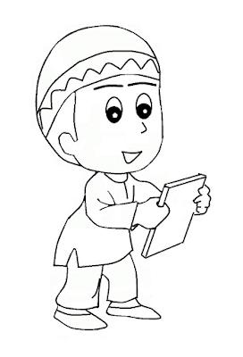 Gambar Mewarnai Anak Muslim - 3