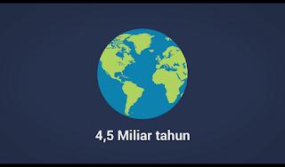 Umur Bumi 4,5 Milyar Tahun, Umur bumi 4,5 miliar tahun, berapa usia bumi, usia bumi, usia bumi sudah 4,5 miliar tahun
