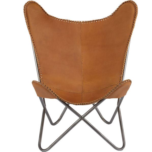 Copy Cat Chic CB2 1938 Tobacco Leather Butterfly Chair
