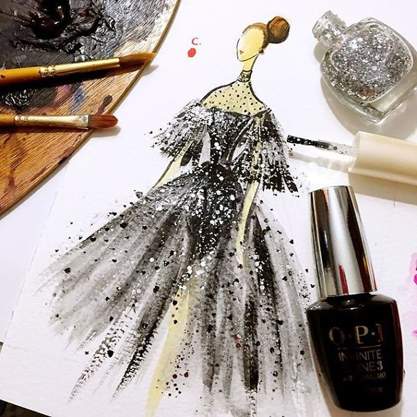 04-Chan-Clayrene-Artclaytion-Haute-Couture-Paintings-using-Nail-Polish-and-Brushes-www-designstack-co