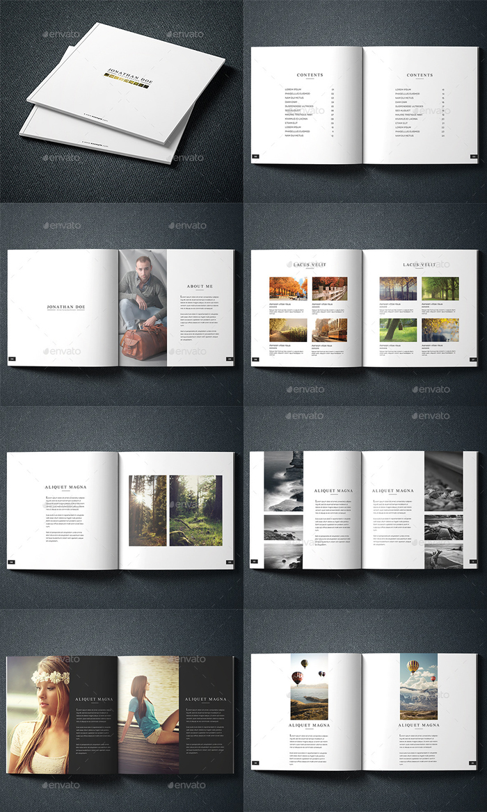 Best 3 Photography Portfolio Brochure Design Template