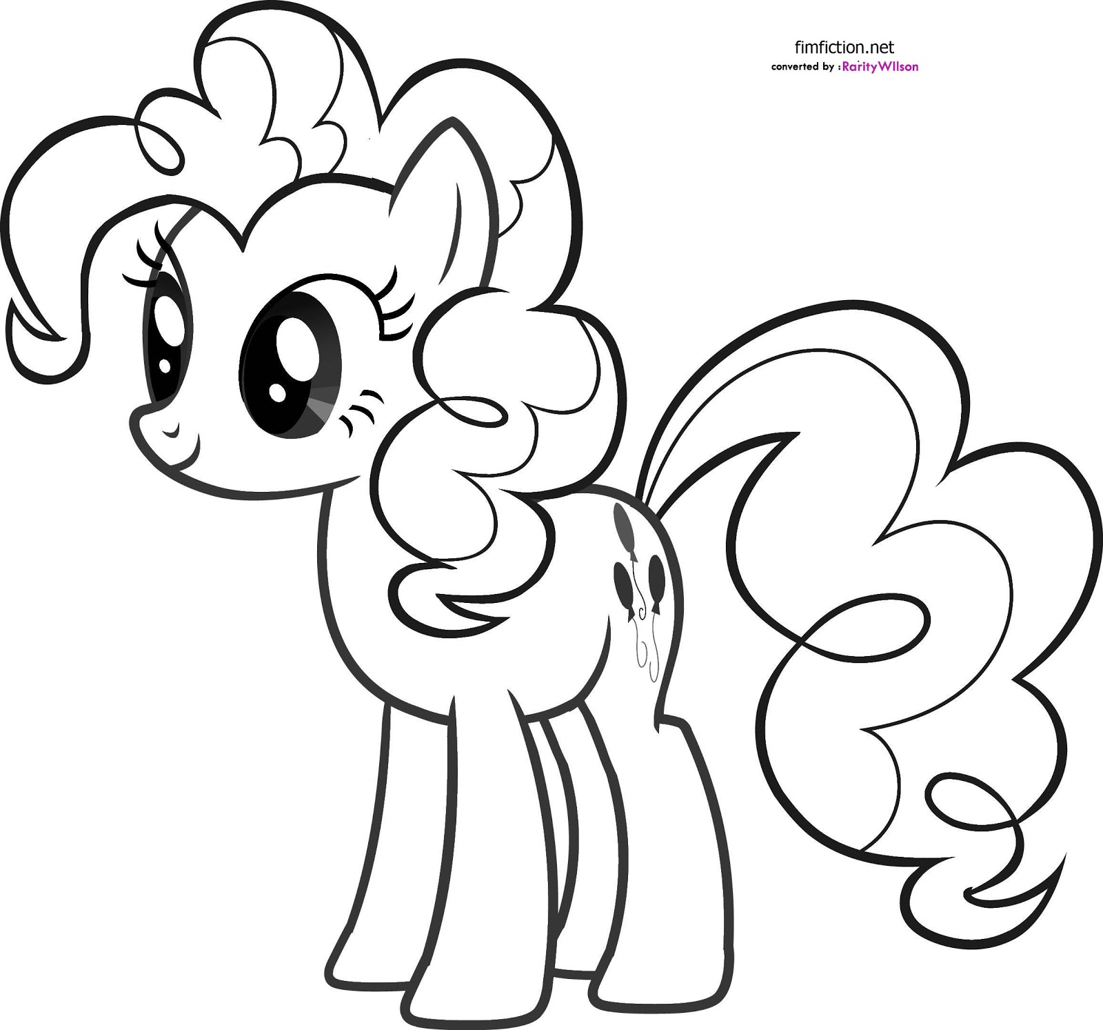 Coloring Page My Little Pony Equestria Girl Pinkie Pie My Little