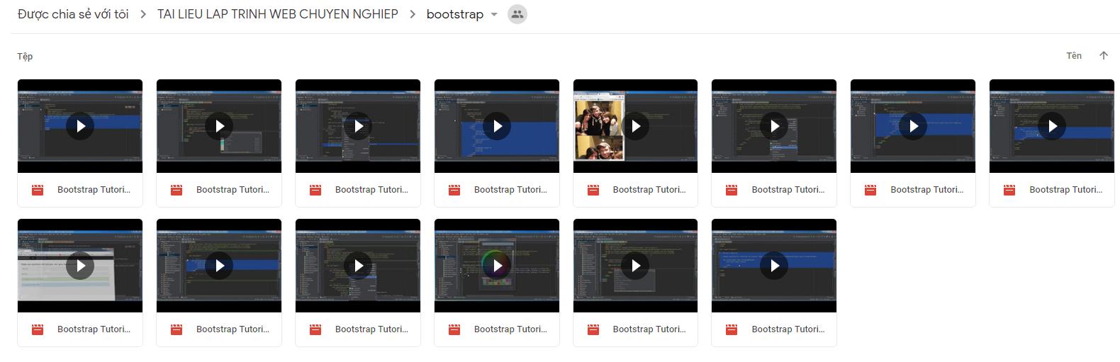 Chia sẽ bộ video full về khóa học lập trình website chuyên nghiệp