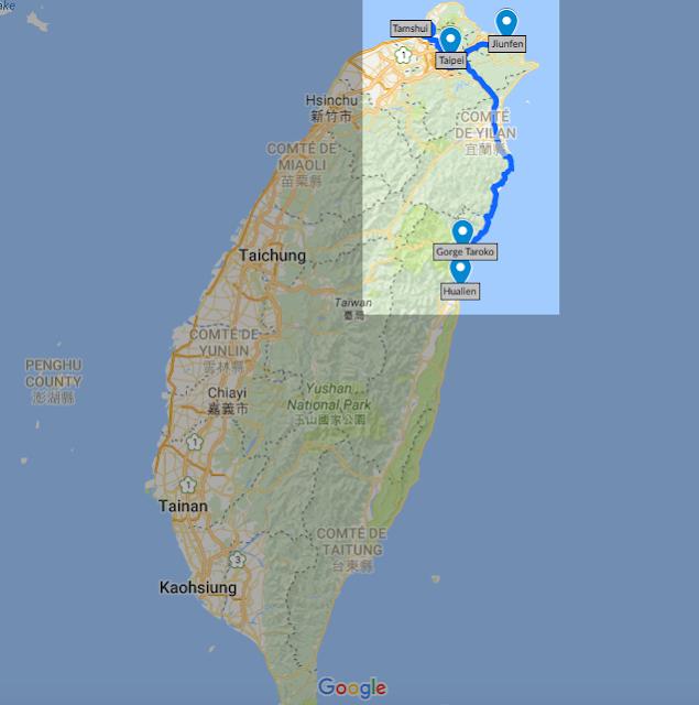 Itinéraire 5 jours à la découverte de Taiwan