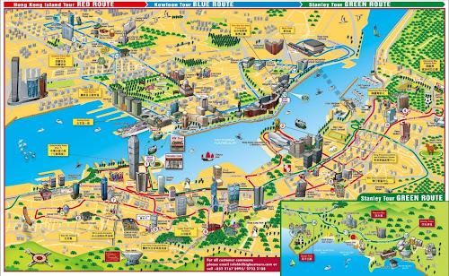 Mapa turístico de Hong Kong