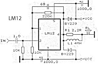 schematic LM12 high power amplifier
