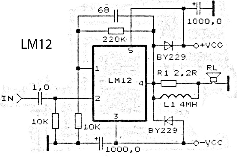 LM12 High Power Amplifier circuit [] Diagram Guide