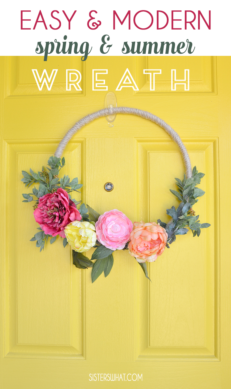 how to make a modern floral wreath