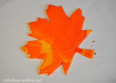 Отпечаток листка в глине