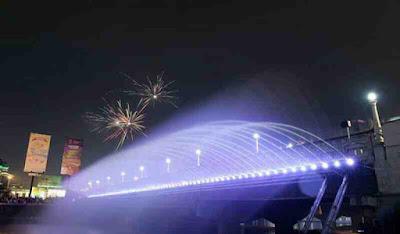 Inilah Lokasi Bridge Fountain (Jembatan Air Mancur) Semarang yang Hits, wisata hits semarang, wisata instagramable dan kekinian
