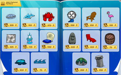 Club Penguin Furniture & Igloo Catalog Cheats July 2016