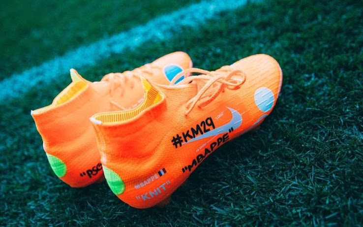 save off 37202 9b380 Mbappé Trains in Exclusive Nike x Off-White Mercurial ...