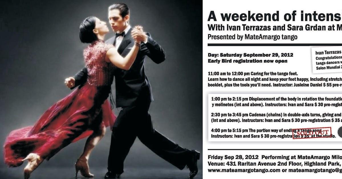 Ivan Terrazas And Sara Grdan At Mateamargo Tango In New Jersey