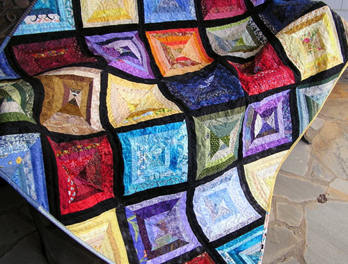 String Quilt Faceted Jewels - Tutorial