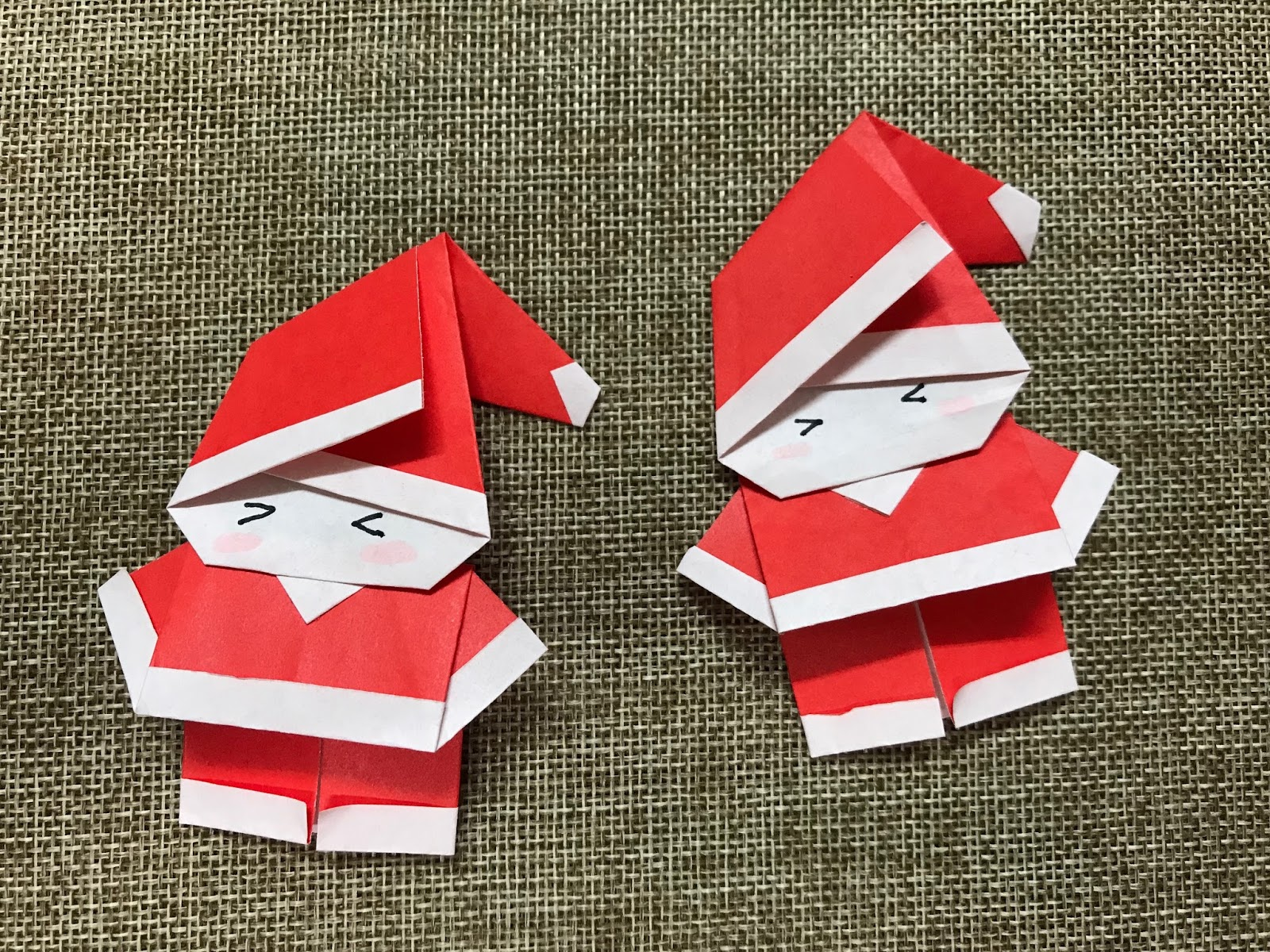 How to make an easy origami Santa Claus: page 1 | 1200x1600