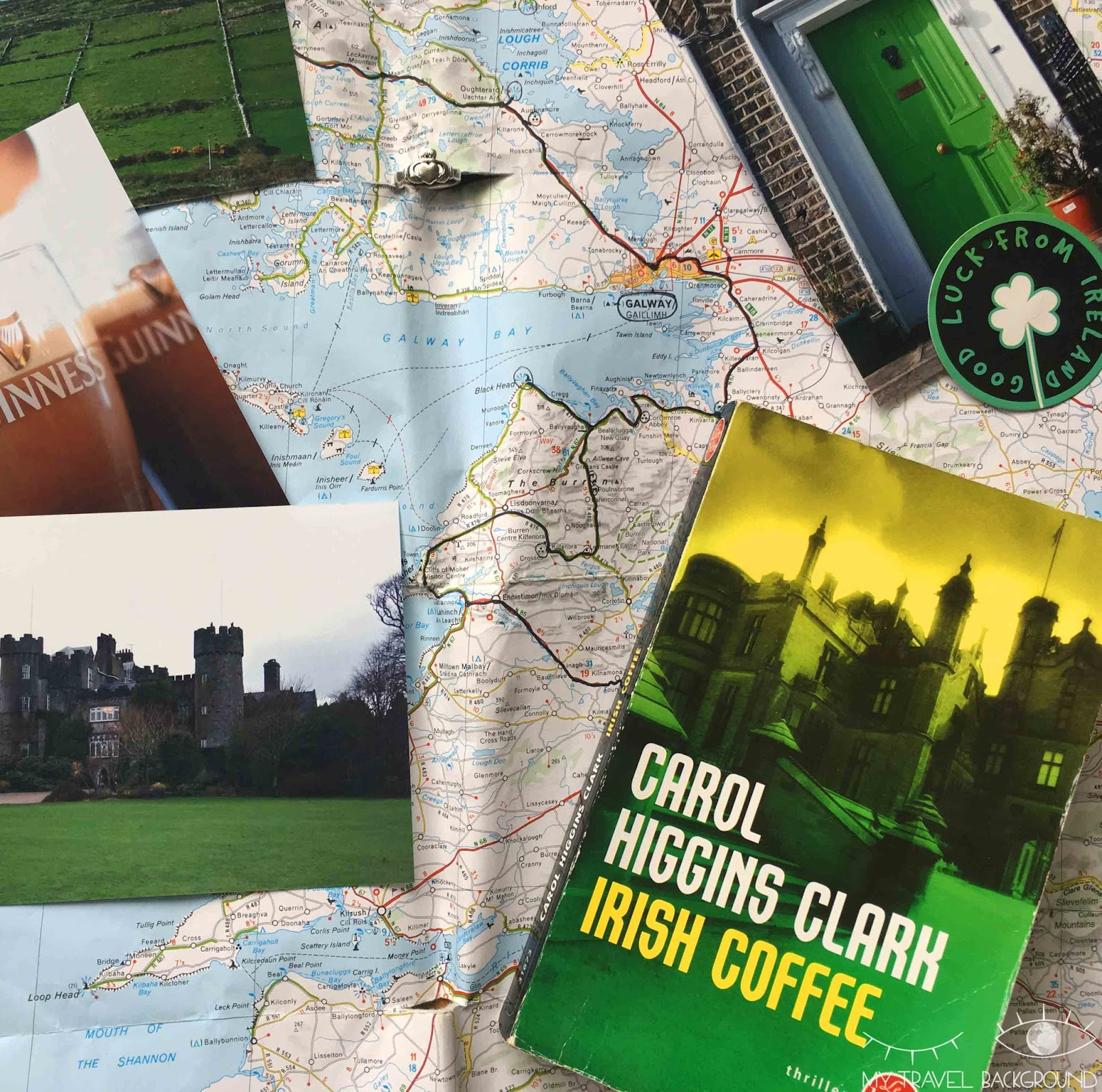 My Travel Background : 9 romans qui vont vous faire voyager, Irish Coffee, Carol Higgins Clark