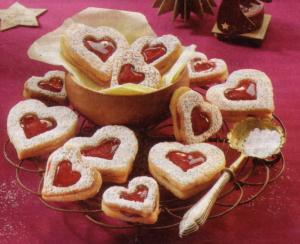 international food blog german linzer heart cookies. Black Bedroom Furniture Sets. Home Design Ideas