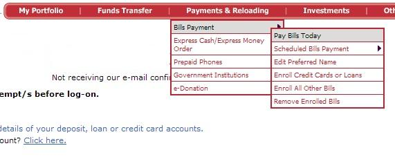 Paying Bills with BPIExpressOnline