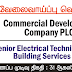 Vacancy In Commercial Development Company PLC.