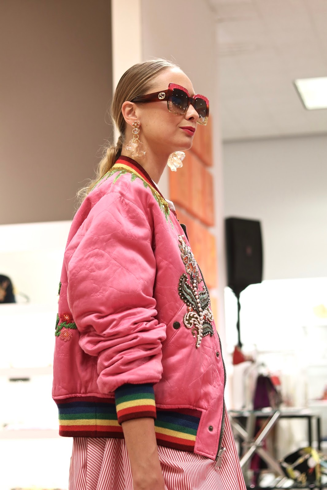 Gucci pink jacket, gucci 2018 jacket, colorful jacket