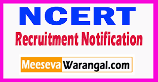 NCERT National Council of Educational Research And Training Recruitment Notification 2017 Last Date 20-07-2017