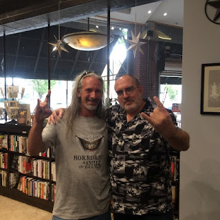 With Brian Keene, Starline Books, Chattanooga, TN, July 2016