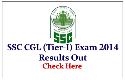 SSC CGL (Tier-I) Exam 2014 Results