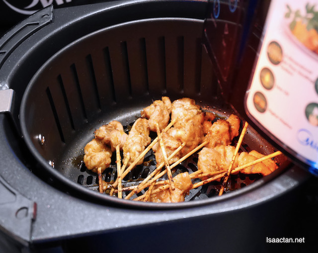 These meat skewers cooked in Midea air fryers looks really good
