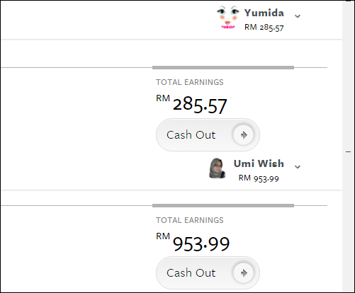 Cashout hasil iklan Nuffnang di blog jumlah RM1,239.56