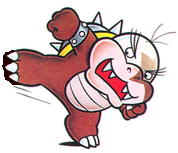 Morton Koopa Jr. Super Mario World official artwork brown stepped in shit crap gunk chocolate