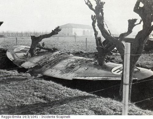 14 March 1941 worldwartwo.filminspector.com Reggiane Re 2001 prototype crash