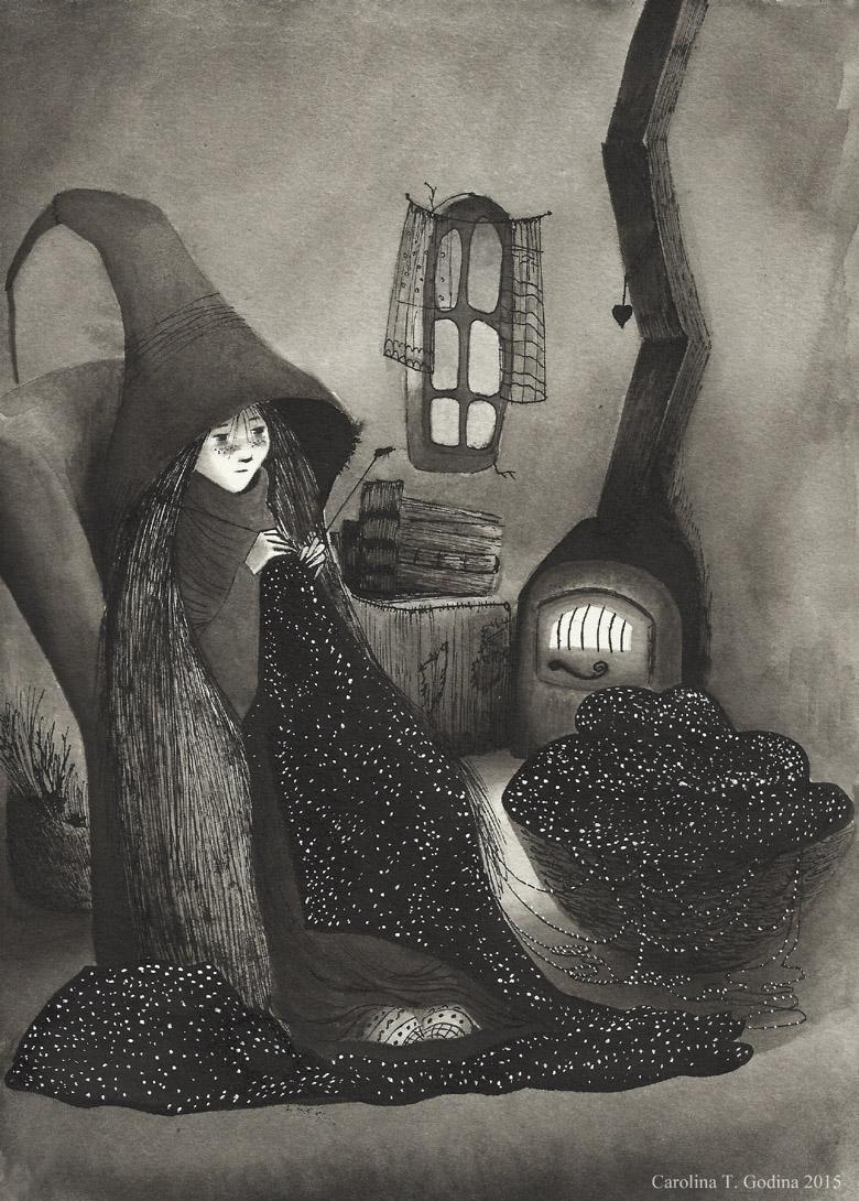Carolina T. Godina viene de vista, nos muestra sus ilustraciones y su sensibilidad, conoceréis a una verdadera artista llena de futuro