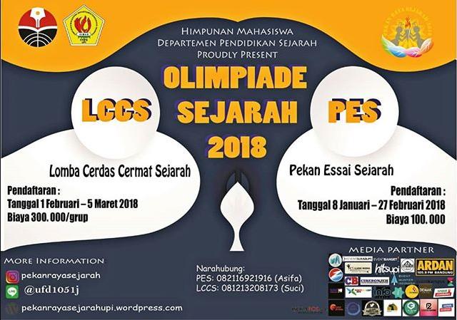 Olimpiade Sejarah 2018 Se-Pulau Jawa Departemen Pendidikan Sejarah